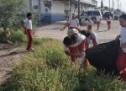 ALUMNOS Y MAESTROS DE LA TECNICA 20 REALIZAN CAMPAÑA DE LIMPIEZA PARA FINALIZAR SU CICLO ESCOLAR