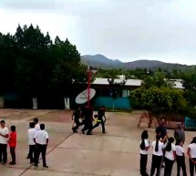 REALIZAN SIMULACRO DE INCENDIO EN LA TELESECUNDARIA 6014 DE COYAME