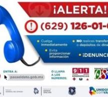 ALERTAN POR LLAMADAS EXTORSIVAS QUE PIDEN DINERO A NOMBRE DE ALCALDES