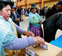 CIUDADANOS DE BOLIVIA ACUDEN A LAS URNAS PARA ELEGIR PRESIDENTE Y NUEVO PARLAMENTO