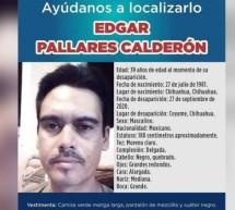 DESAPARECIÓ ÉDGAR PALLARES EN COYAME; LO BUSCAN