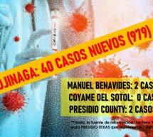 COVID19: OJINAGA REGISTRA 40 NUEVOS CASOS EN LAS ULTIMAS 24 HORAS