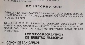 REALIZAN LA LIMPIEZA DE LOS SITIOS RECREATIVOS DE MANUEL BENAVIDES.