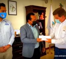 REALIZA COMUNIDAD DE PRESIDIO, IMPORTANTE DONACION ECONOMICA AL DEPARTAMENTO DE BOMBEROS DE OJINAGA