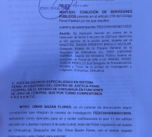 PROTEGE FGR DE CHIHUAHUA A EX DIRECTORA DE CONAGUA: OMAR BAZÁN