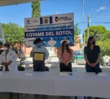 CERTIFICACION N AL MUNICIPIO DE COYAME  DEL SOTOL COMO PROMOTOR DE LA SALUD