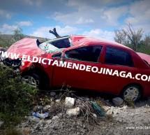 VOLCADURA EN LA CARRETERA CAMARGO A OJINAGA DEJA SOLO DAÑOS MATERIALES