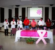 """INAUGURA PRESIDENTE MUNICIPAL ANDRÉS RAMOS DE ANDA SIMPOSIO SOBRE CÁNCER DE MAMA EN EL MARCO DEL """"MES ROSA"""""""